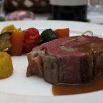 Steak mit Antipasti Gemüse